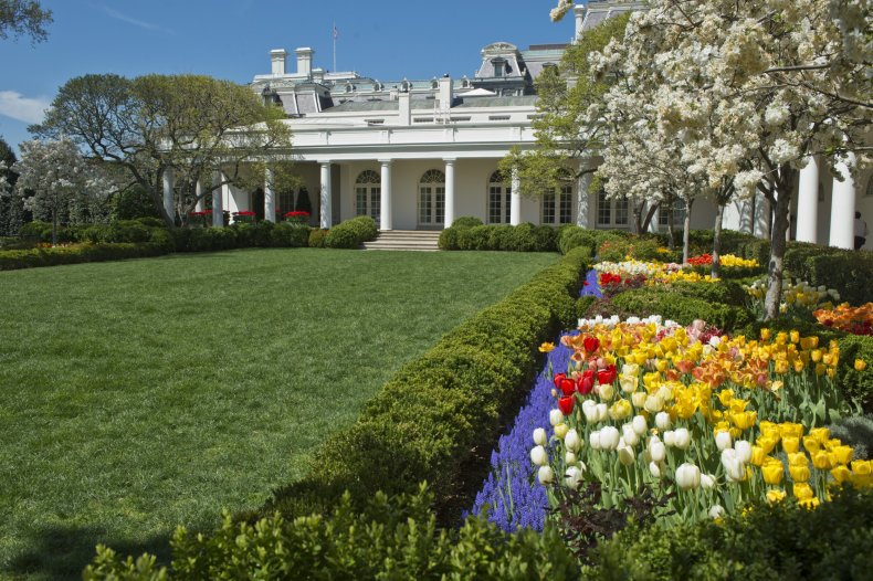 The White House Rose Garden in 2014.