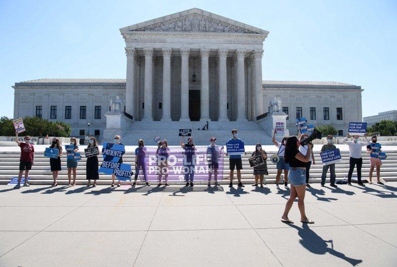Anti-Abortion Activists Outside Supreme Court