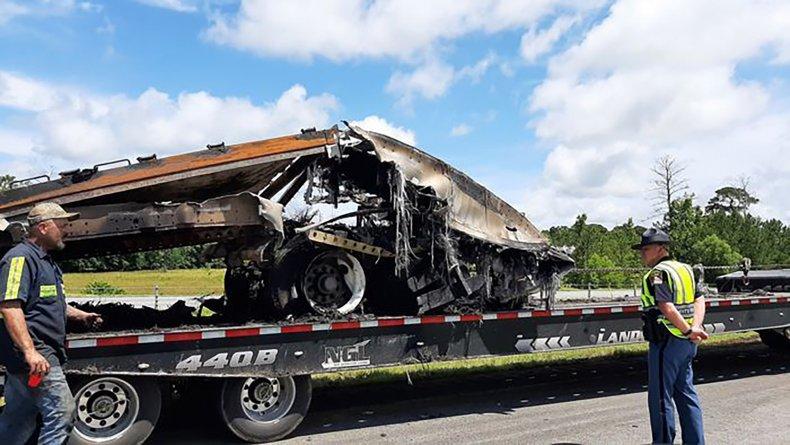 Wreckage of Fatal Vehicle Crash