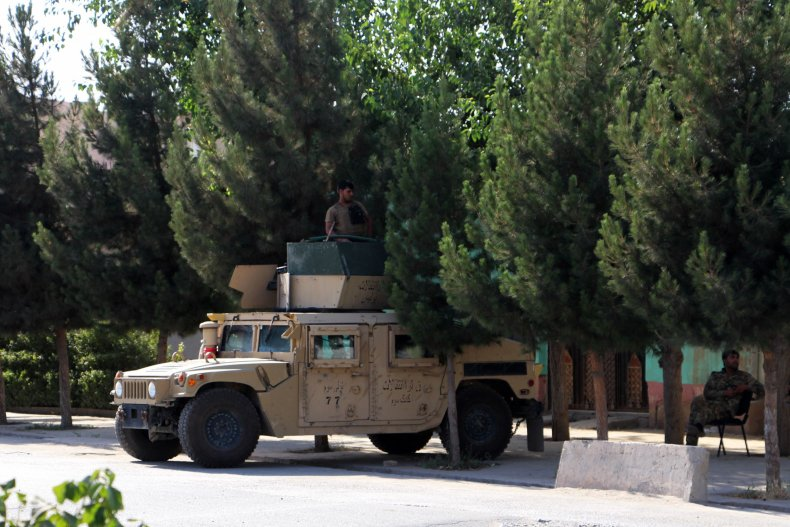 Afghan, security, forces, stand, guard, Kunduz