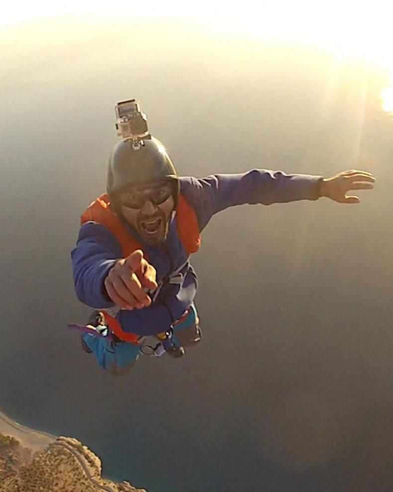 Cengiz Kocak in flight