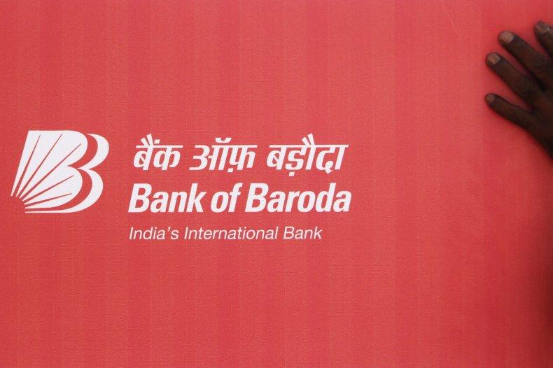 Bank of Baroda sign