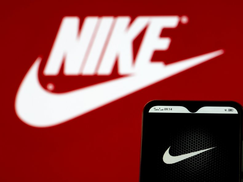In this photo illustration, a Nike, Inc.