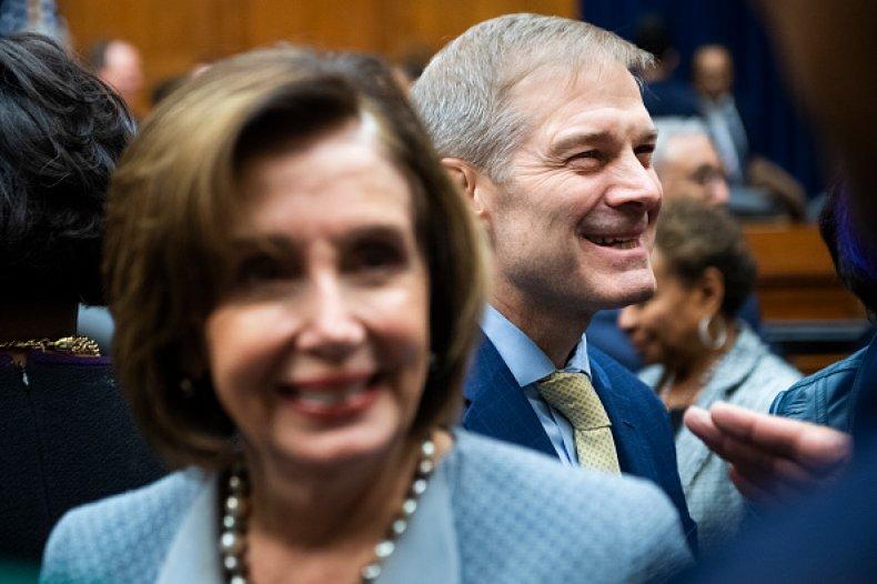 Jim Jordan and Nancy Pelosi