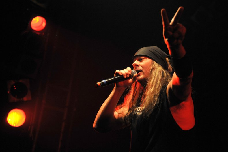 SKid Rock's Johnny Solinger onstage in London