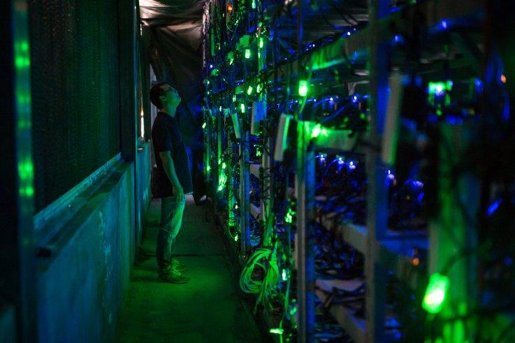 Chinese bitcoin mine