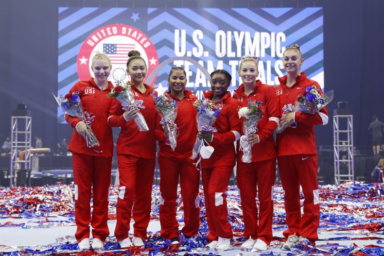 Simone Biles at the U.S. Olympic Trials