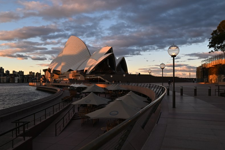 The Sydney Opera House in June 2021.