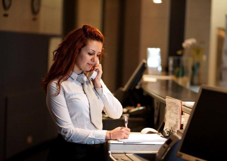 #30. Hotel, motel, and resort desk clerks