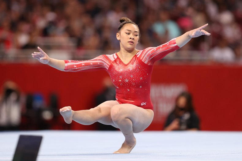 Sunisa Lee at the U.S. Olympic Trials