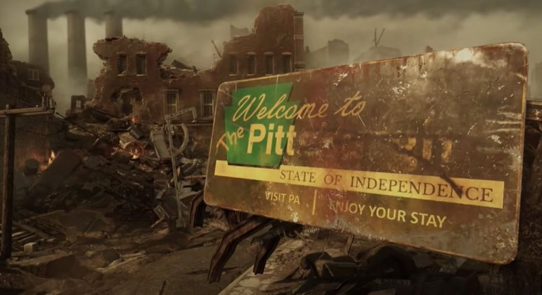 """""""Welcome to the Pitt"""" Sign"""
