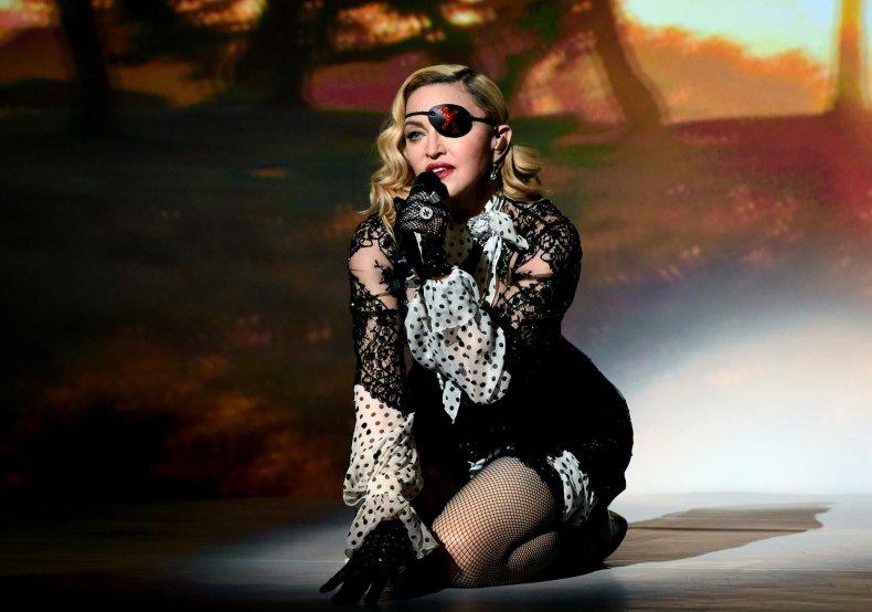 Madonna performing at Billboard Music Awards