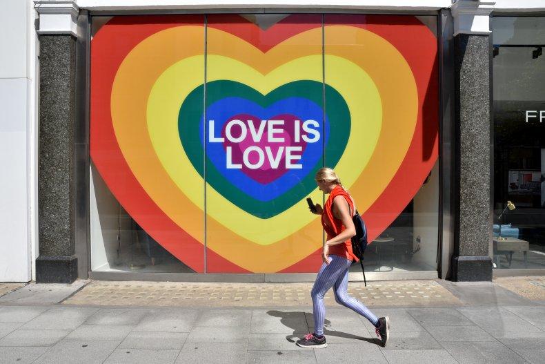 Pride Month, Love is Love rainbow heart