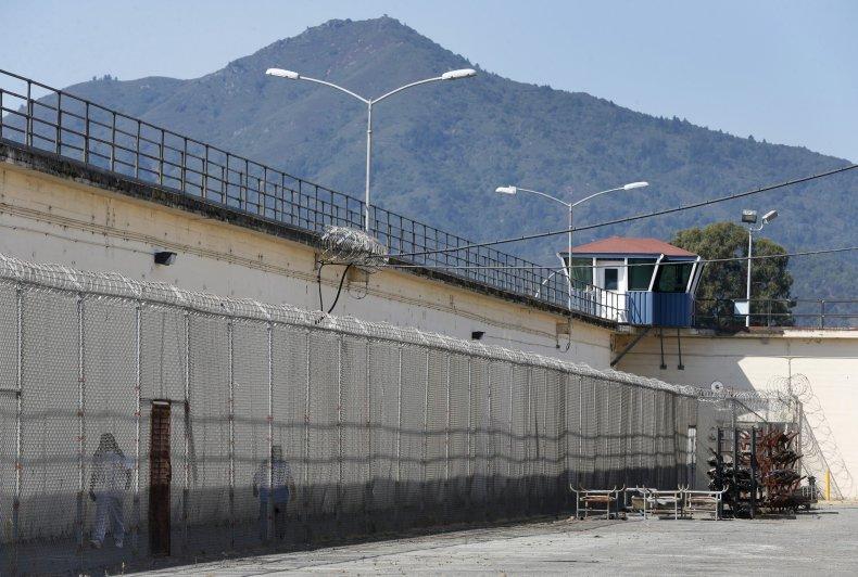 Mount Tamalpais rises above San Quentin Prison