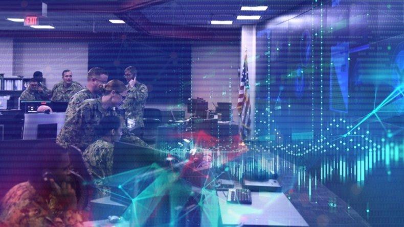 US, Navy, Cyber, Command, watch, floor