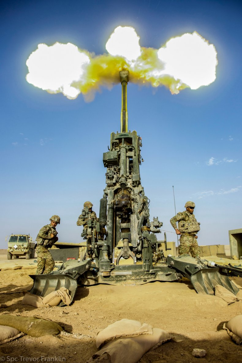 US, Army, fires, artillery, Syria, oil, field