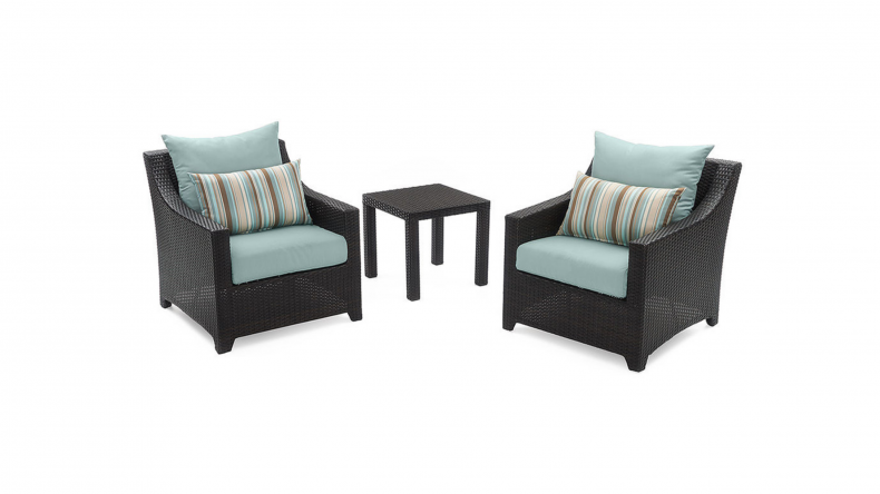 Deco Club Chairs and Side Table