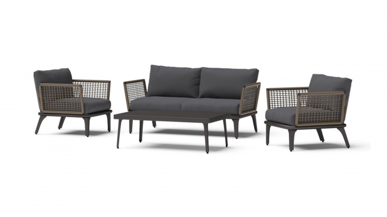 Pathra 4 Piece Wicker Seating Set