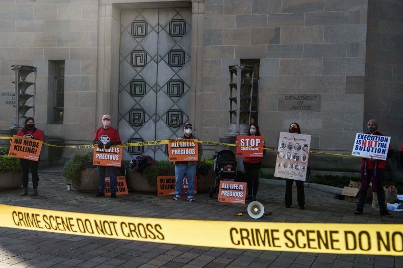 Execution protest in Washington