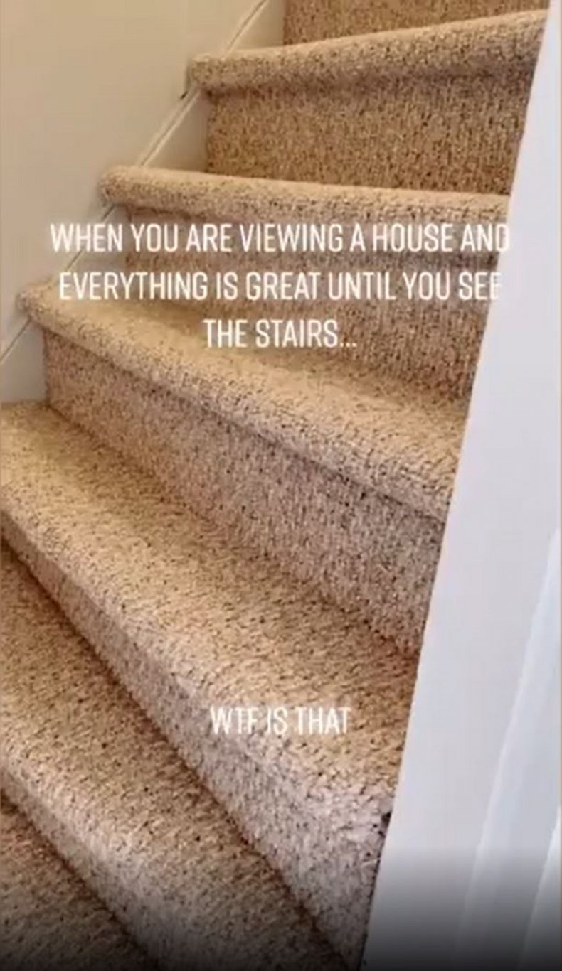 Esther Gratton's wonky stairs.