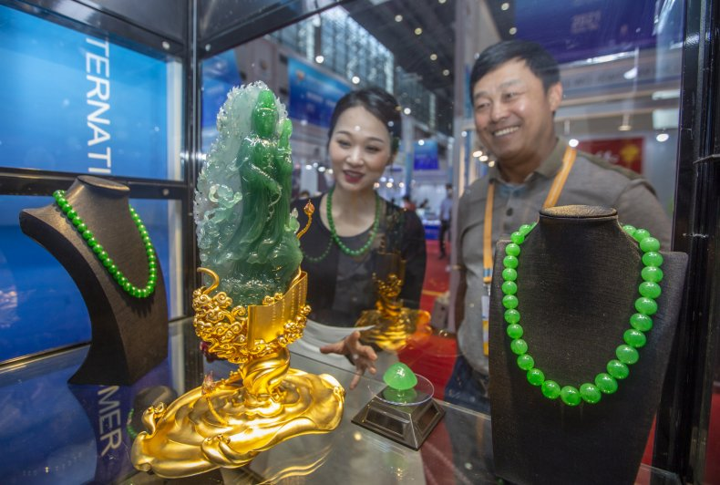 Jade from Myanmar in China