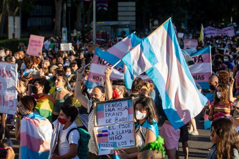 Trans protestors