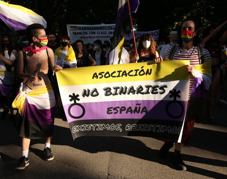 Nonbinary Protestors