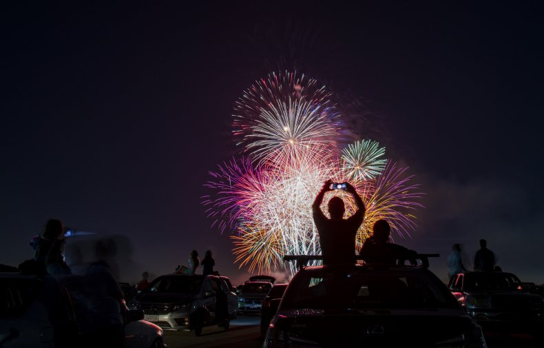 Fireworks in California on July 4, 2020.