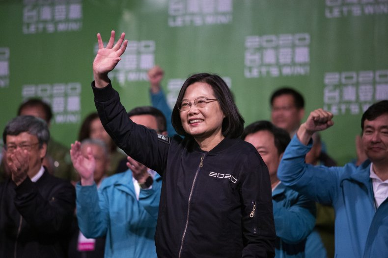 Taiwan President Celebrates Re-election Victory