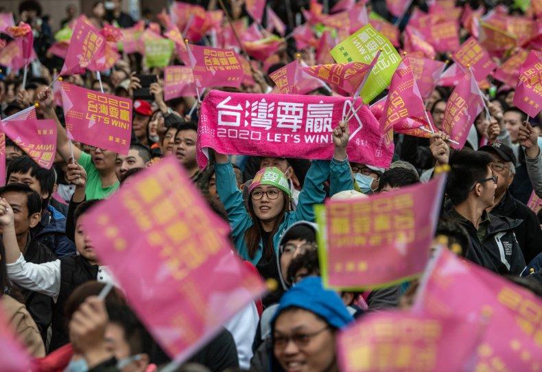 Taiwan Voters Celebrate President's Landslide Re-election