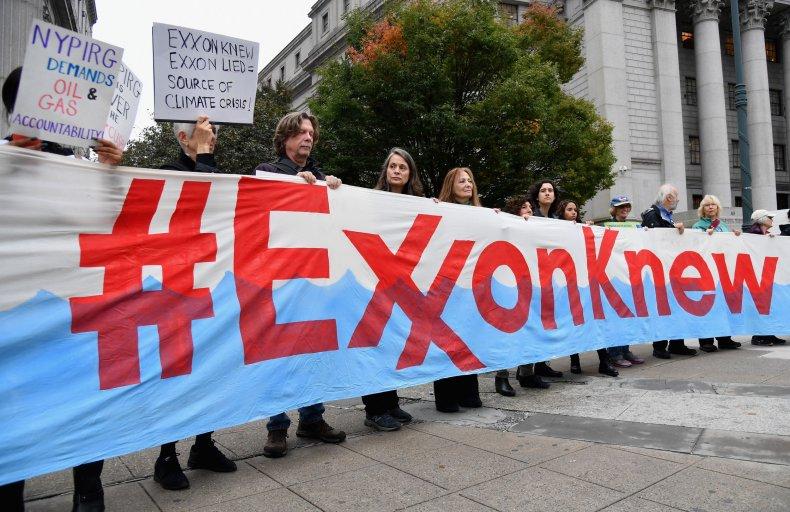 exxonmobil climate change protest