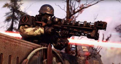 A Brotherhood Soldier Defending an Outpost