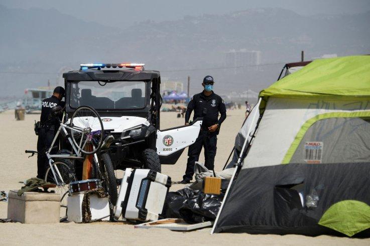 California Homeless Camp