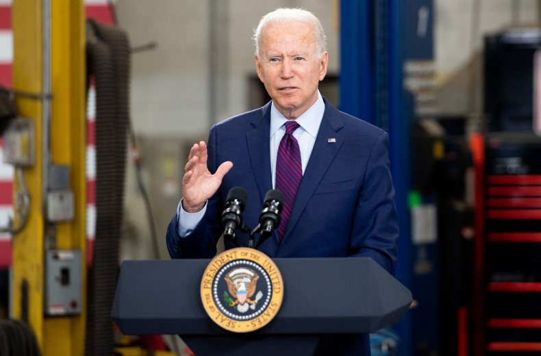 President Joe Biden speaks