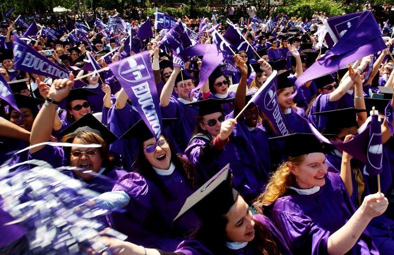 New York University students at graduation