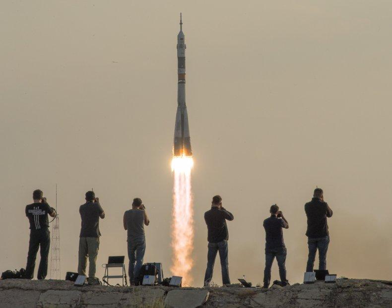 Soyuz taking off