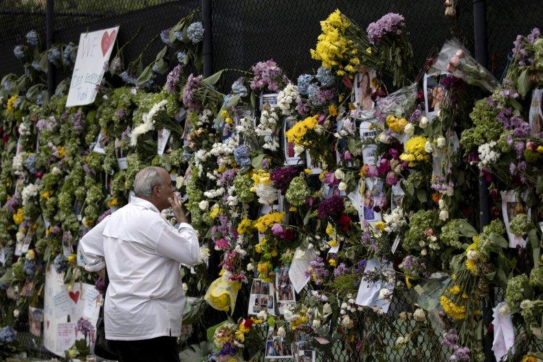 Flowers Adorn Florida Surfside Memorial