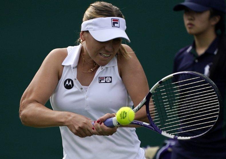 Sofia Kenin at the Wimbledon Tennis Championships