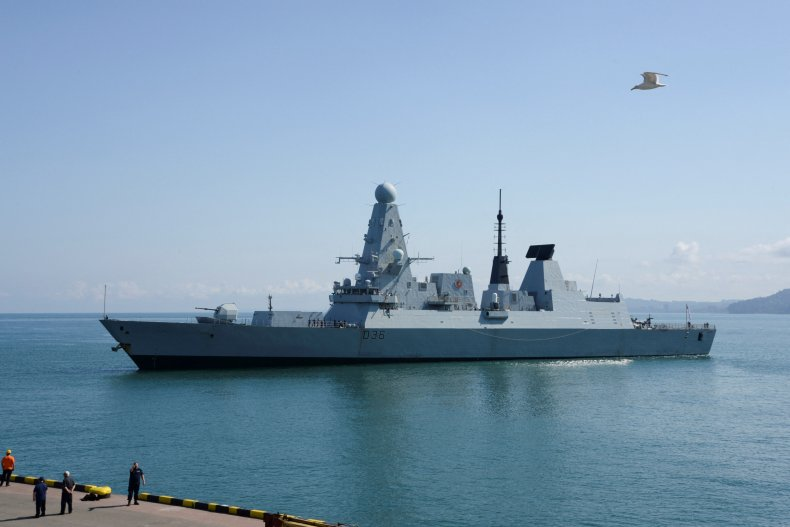 HMS Defender in the Black Sea.