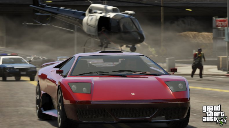 A Grand Theft Auto V Car Chase