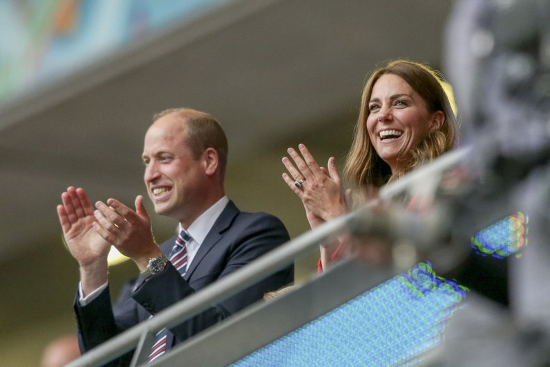 Prince William and Kate Middleton in football