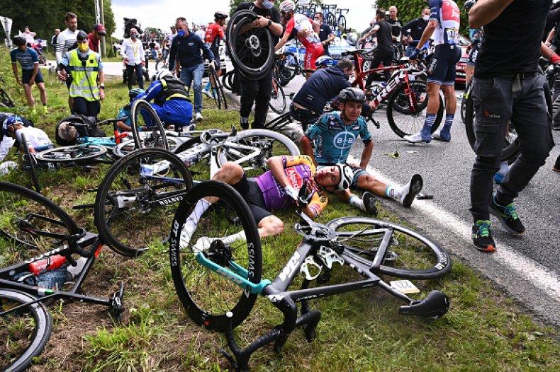 Tour De France Crash Spectator Sign Arrested