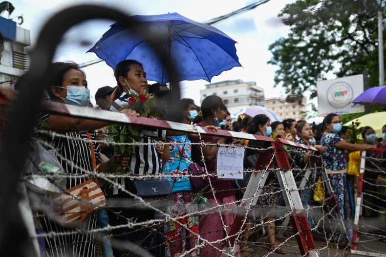 Families Wait for Released Prisoners in Myanmar