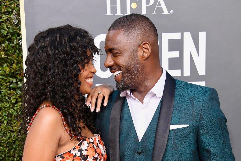 Idris Elba and wife Sabrina Dhowre together