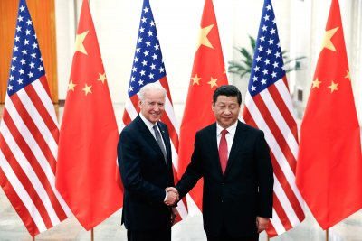 Vice President Joe Biden Greets Chinas Xi