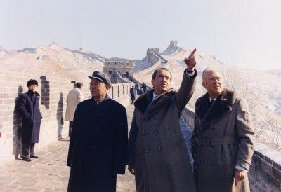 President Richard Nixon Visits Chinas Great Wall