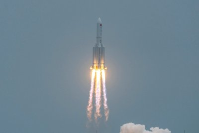 Chinese Space Station Modules Launches Into Space