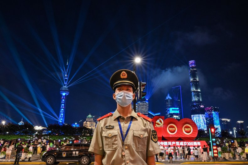 China, officer, 100th, anniversary, Communist, Party