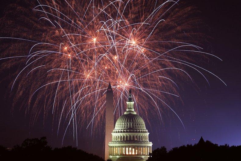 July 4 fireworks in 2018 in Washington,D.C.