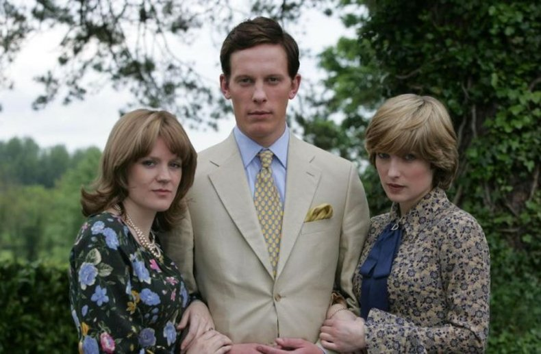 Olivia Poulet, Laurence Fox and Michelle Duncan